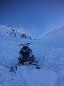 20161204 North Odyssey Wind Slab Triggered by Snow Machine