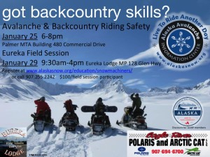Avalanche & Backcountry Riding Safety Jan25, 29, 2017 Palmer, Eureka